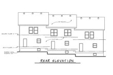 Dream House Plan - Traditional Exterior - Rear Elevation Plan #20-629