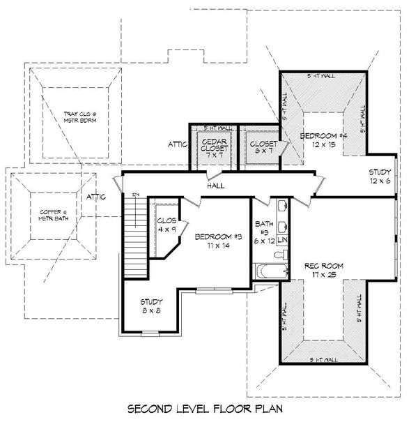 Country Floor Plan - Upper Floor Plan Plan #932-277