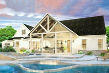 Farmhouse Exterior - Rear Elevation Plan #406-9653