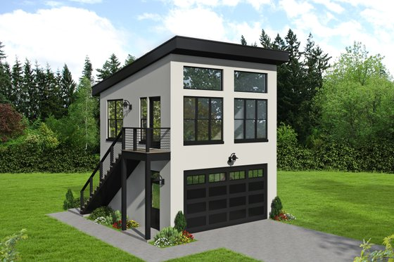 Contemporary Exterior - Front Elevation Plan #932-50