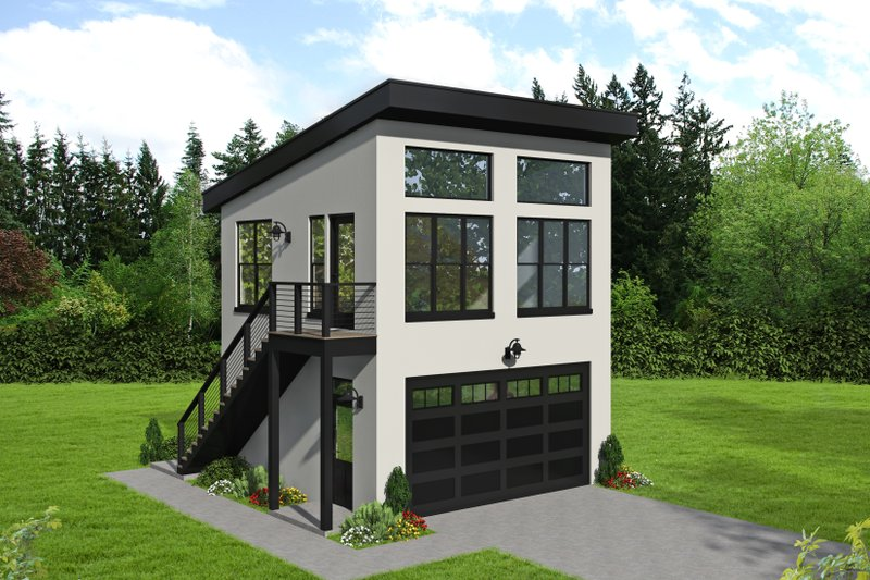 Home Plan - Contemporary Exterior - Front Elevation Plan #932-50