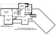 Ranch Style House Plan - 2 Beds 2 Baths 2271 Sq/Ft Plan #70-1499 Floor Plan - Lower Floor Plan