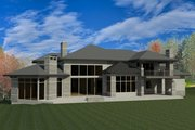 Contemporary Style House Plan - 4 Beds 4 Baths 7655 Sq/Ft Plan #920-90 Exterior - Rear Elevation