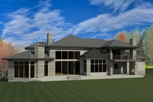 House Plan Design - Contemporary Exterior - Rear Elevation Plan #920-90
