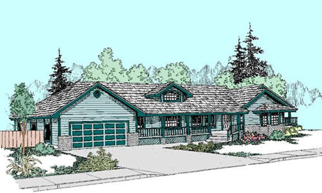 Ranch style house plan 3 beds 3 baths 1717 sq ft plan for Cost to build a 576 sq ft house