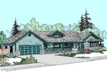 Dream House Plan - Ranch Exterior - Front Elevation Plan #60-268