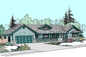 Ranch Exterior - Front Elevation Plan #60-268