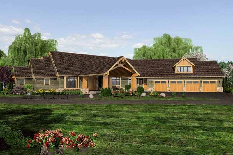 Craftsman Exterior - Front Elevation Plan #48-465 - Houseplans.com