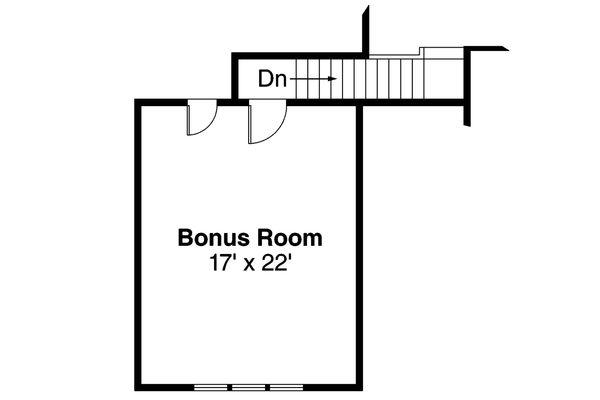 Craftsman Floor Plan - Upper Floor Plan Plan #124-563