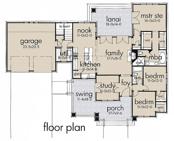Home Plan - Craftsman house pan 1900sft by Texas Architect David Wiggins