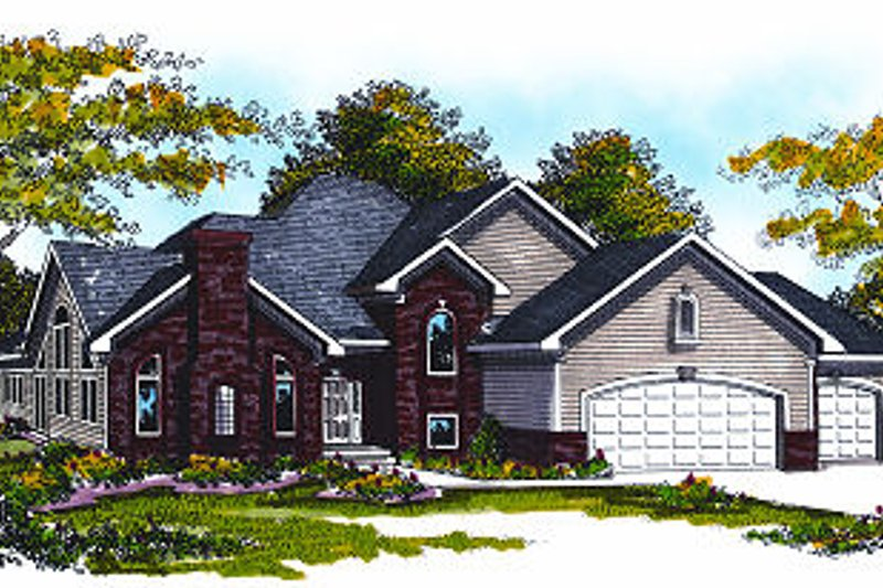 Traditional Exterior - Front Elevation Plan #70-876 - Houseplans.com