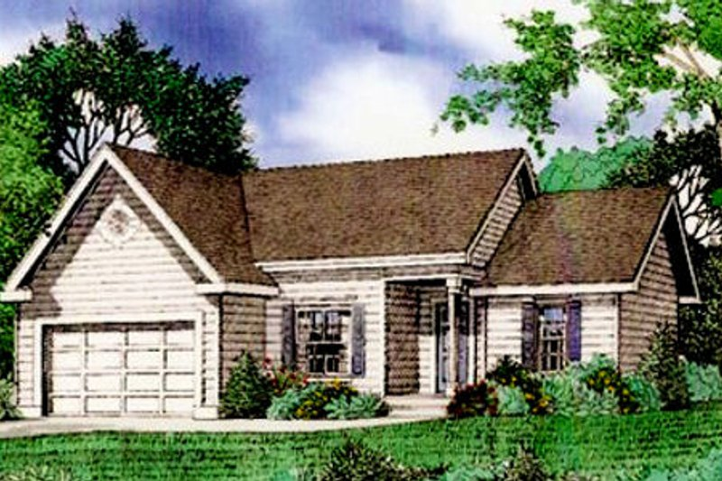 Traditional Exterior - Front Elevation Plan #405-162 - Houseplans.com