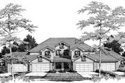 Traditional Style House Plan - 3 Beds 2.5 Baths 7372 Sq/Ft Plan #57-145 Exterior - Front Elevation