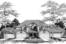 Dream House Plan - Traditional Exterior - Front Elevation Plan #57-145