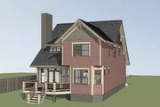 Bungalow Style House Plan - 3 Beds 2.5 Baths 950 Sq/Ft Plan #79-275 Exterior - Rear Elevation