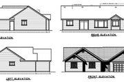 Bungalow Style House Plan - 3 Beds 2 Baths 1437 Sq/Ft Plan #100-422 Exterior - Rear Elevation