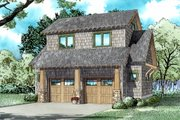 Craftsman Style House Plan - 1 Beds 1 Baths 509 Sq/Ft Plan #17-2578 Exterior - Front Elevation