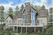 Traditional Style House Plan - 2 Beds 2 Baths 1408 Sq/Ft Plan #17-2276 Exterior - Front Elevation