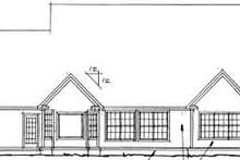 Home Plan - Traditional Exterior - Rear Elevation Plan #20-366
