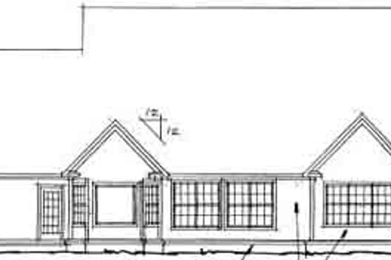 Traditional Exterior - Rear Elevation Plan #20-366 - Houseplans.com