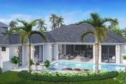 Contemporary Style House Plan - 3 Beds 3 Baths 3683 Sq/Ft Plan #27-572 Exterior - Rear Elevation