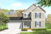 Traditional Style House Plan - 3 Beds 1.5 Baths 1020 Sq/Ft Plan #50-273 Exterior - Front Elevation