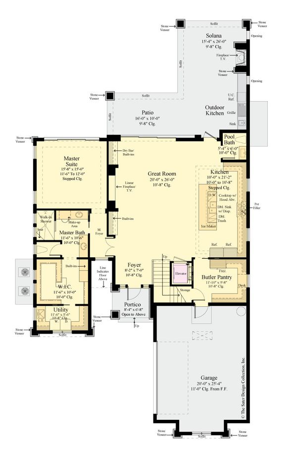 Architectural House Design - Contemporary Floor Plan - Main Floor Plan #930-515