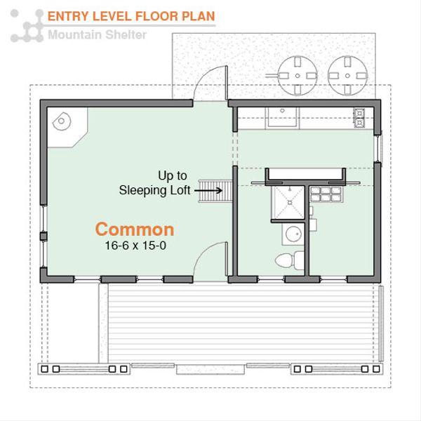 Cottage Floor Plan - Main Floor Plan Plan #556-3