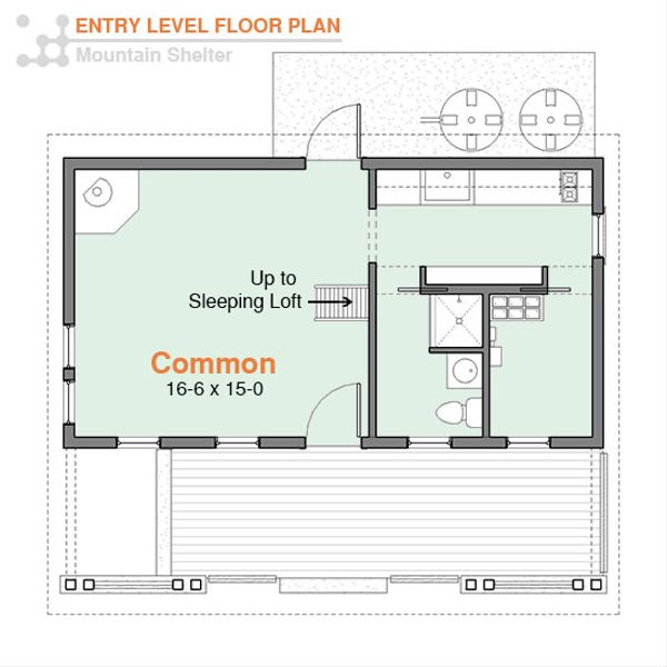 Cottage Floor Plan - Main Floor Plan #556-3