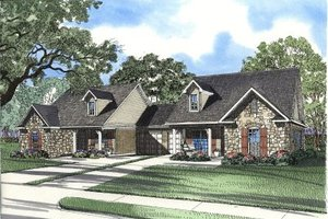 Traditional Exterior - Front Elevation Plan #17-1068