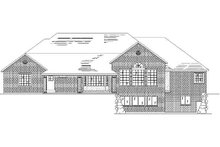 Home Plan - Traditional Exterior - Rear Elevation Plan #5-324