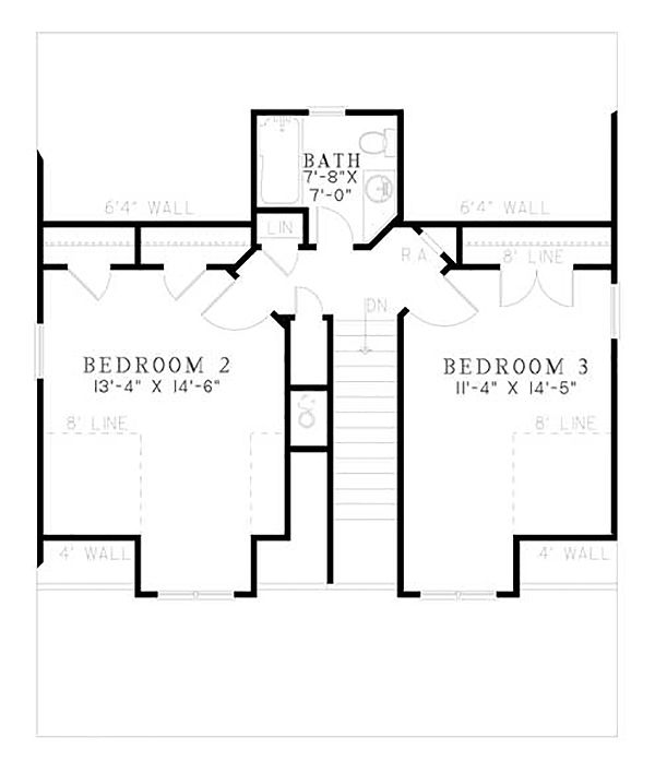 Country Floor Plan - Upper Floor Plan Plan #17-2304