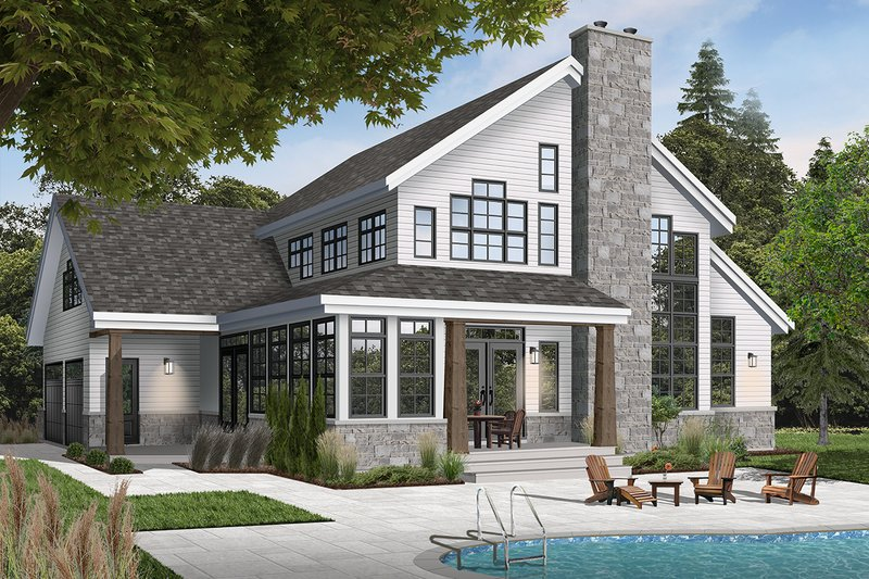 Architectural House Design - Traditional Exterior - Front Elevation Plan #23-250