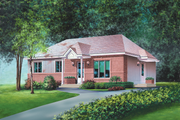 Classical Style House Plan - 2 Beds 1 Baths 1120 Sq/Ft Plan #25-4825 Exterior - Front Elevation