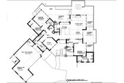 Contemporary Style House Plan - 4 Beds 3.5 Baths 2911 Sq/Ft Plan #895-27 Floor Plan - Main Floor