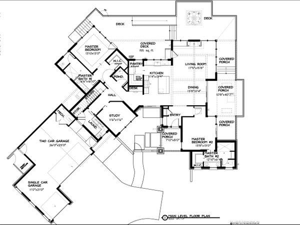 Contemporary Floor Plan - Main Floor Plan Plan #895-27