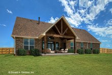 House Plan Design - Ranch Exterior - Rear Elevation Plan #929-1002