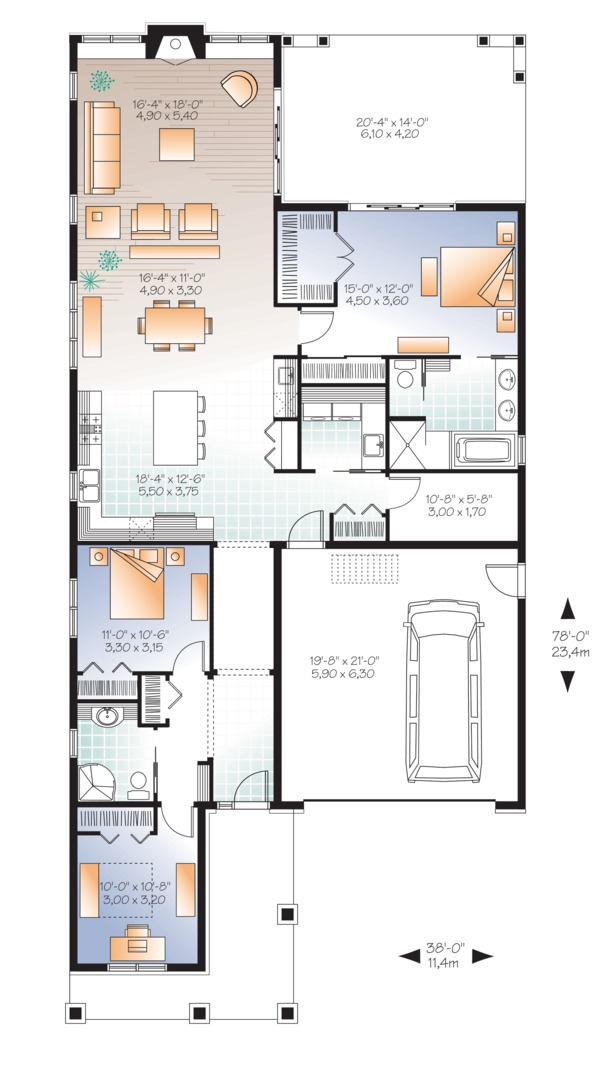 Ranch Floor Plan - Main Floor Plan Plan #23-2655