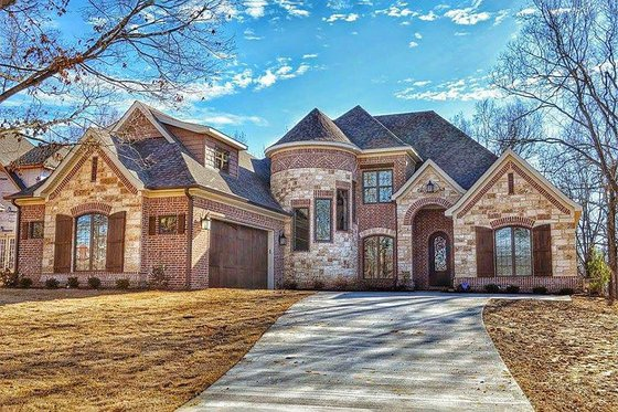 Home Plan Design - European Exterior - Front Elevation Plan #17-2499