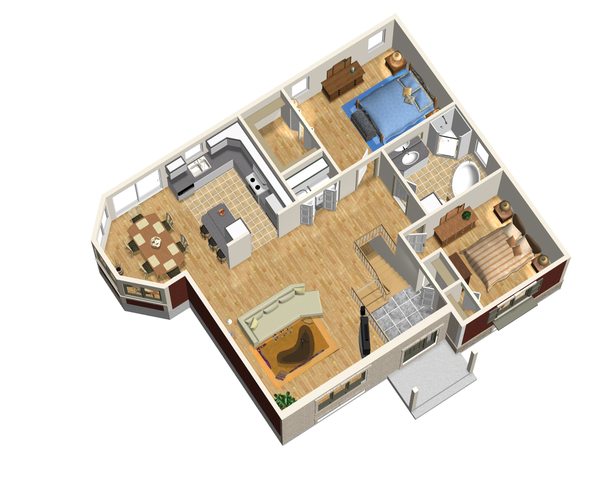 Traditional Floor Plan - Main Floor Plan Plan #25-4450
