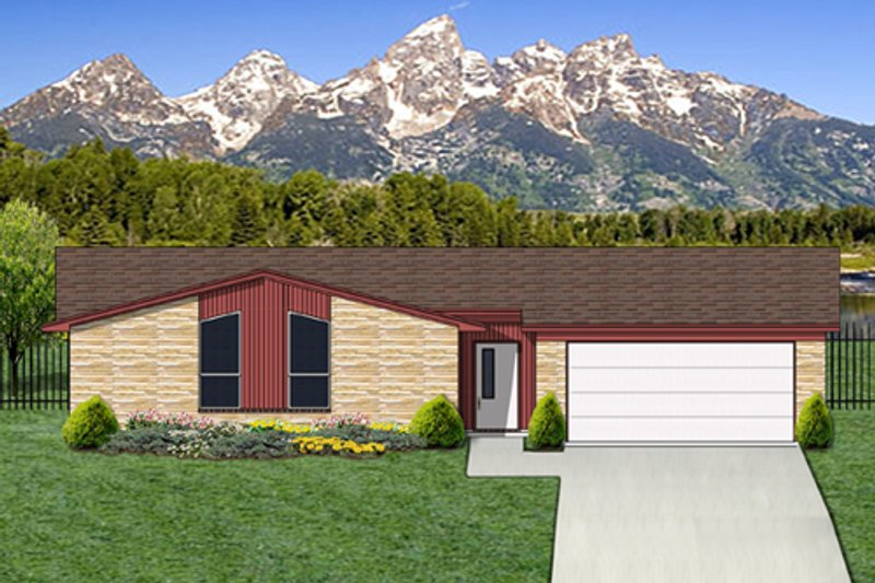 Modern Exterior - Front Elevation Plan #84-517 - Houseplans.com
