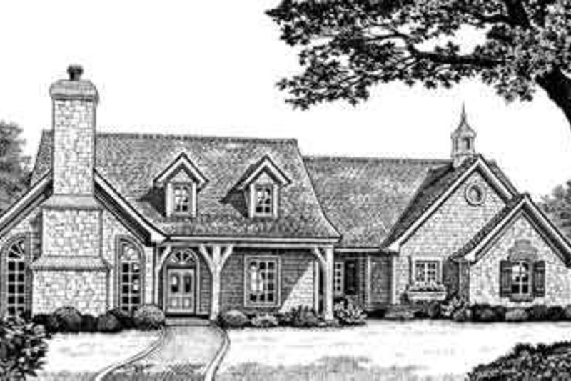European Exterior - Front Elevation Plan #310-253