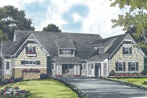 Craftsman Exterior - Front Elevation Plan #453-19