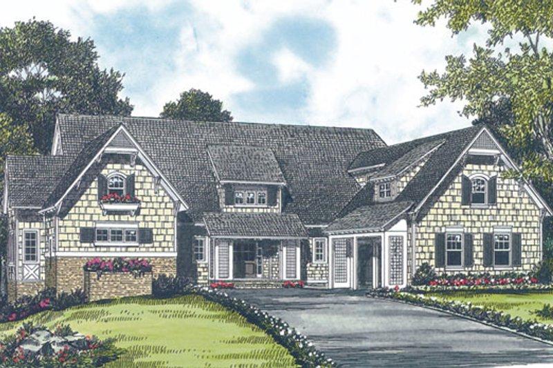 Craftsman Exterior - Front Elevation Plan #453-19
