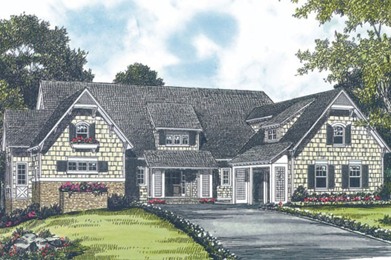 Dream House Plan - Craftsman Exterior - Front Elevation Plan #453-19