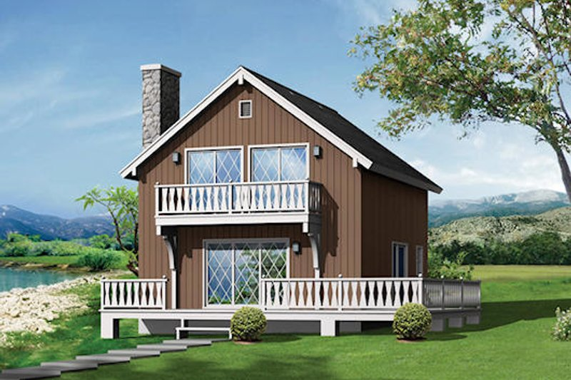 Cottage Style House Plan - 5 Beds 2 Baths 1344 Sq/Ft Plan #57-551 Exterior - Front Elevation