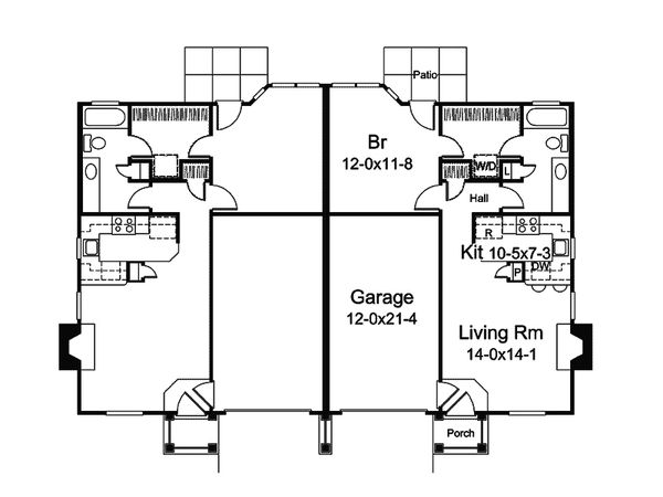 Craftsman Floor Plan - Main Floor Plan Plan #57-685
