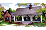 European Style House Plan - 3 Beds 2 Baths 1672 Sq/Ft Plan #45-114