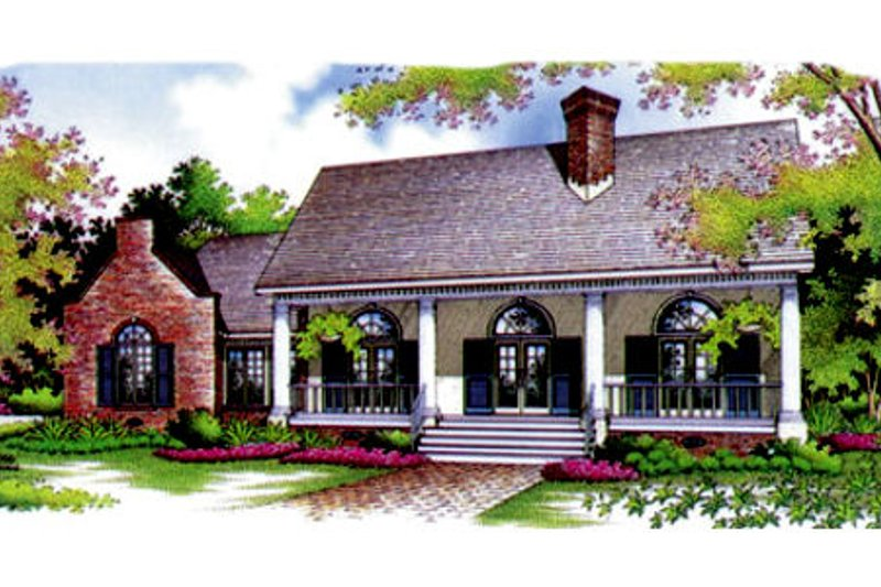 European Style House Plan - 3 Beds 2 Baths 1672 Sq/Ft Plan #45-114 Exterior - Front Elevation