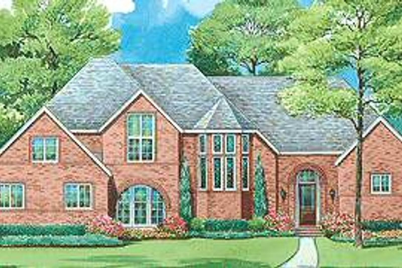Traditional Exterior - Front Elevation Plan #20-1707 - Houseplans.com